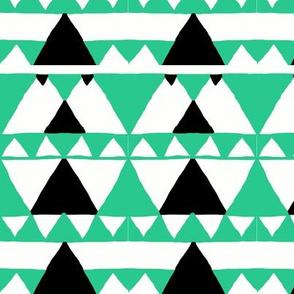 Modern Native Geometric Triangles in Mint