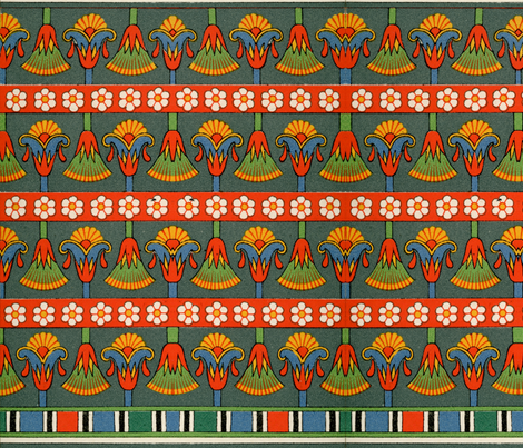egyptian 2 fabric by hypersphere on Spoonflower - custom fabric