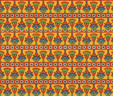 egyptian 3 fabric by hypersphere on Spoonflower - custom fabric