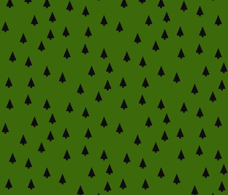 Evergreen Trees fabric by hejamieson on Spoonflower - custom fabric