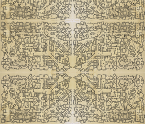 Dyson's Dungeon fabric by rueink on Spoonflower - custom fabric