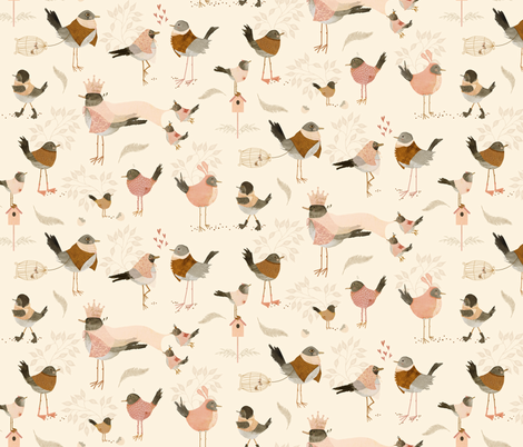 Avian royalty fabric by katherine_quinn on Spoonflower - custom fabric