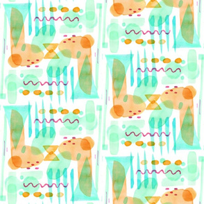 Abstract Watercolor Shapes (orange)