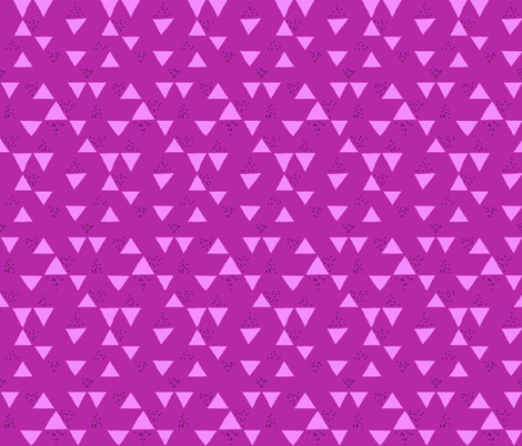 Berry Geometric Triangle Speckles fabric by hejamieson on Spoonflower - custom fabric