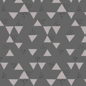 Grey Geometric Triangle Speckles
