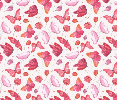 Butterflies dance  fabric by camilalemos on Spoonflower - custom fabric