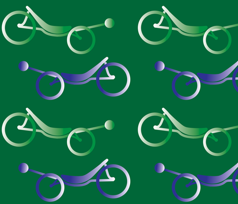 Recumbent Bicycles Two Wheeled HPV fabric by sanfranciscobaydesign on Spoonflower - custom fabric