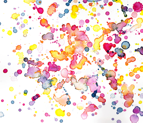 love to play watercolor abstract fabric by littlewhimsy on Spoonflower - custom fabric