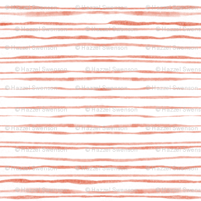 Coral Watercolor Stripes