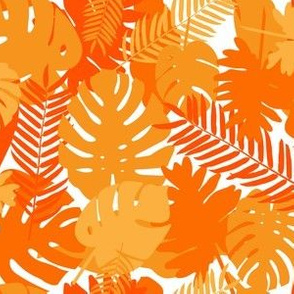 Tropical Leaves - Orange