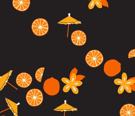 Just Oranges fabric by moderntikilounge on Spoonflower - custom fabric