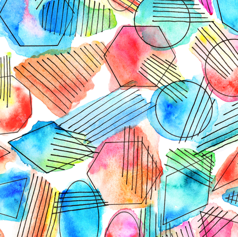 Abstract watercolor fabric by olgart on Spoonflower - custom fabric