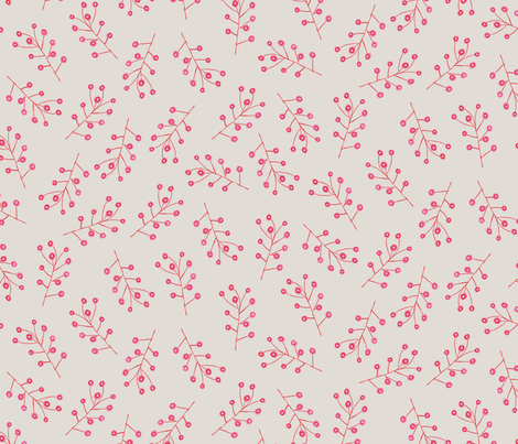 boho spindle flowers fabric by zoe_ingram on Spoonflower - custom fabric