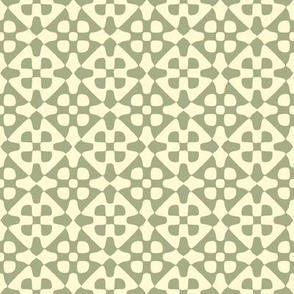 diamond checker in cream and sage