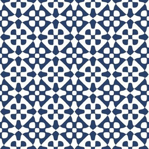 diamond checker in navy and white