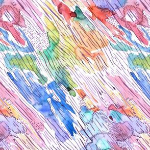 abstract magic rain