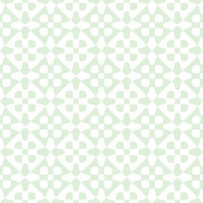 Diamond checker - pale green and white