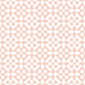 Diamond checker - peach-pink and white