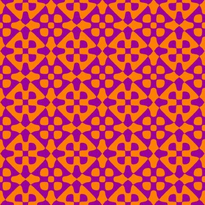diamond checker - Indian purple and orange