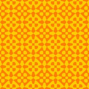 diamond checker - sunshine and saffron