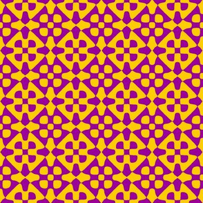 diamond checker - Indian purple and yellow