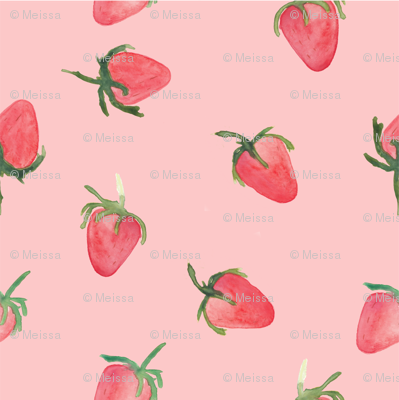 strawberries pink