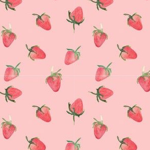 strawberries pink