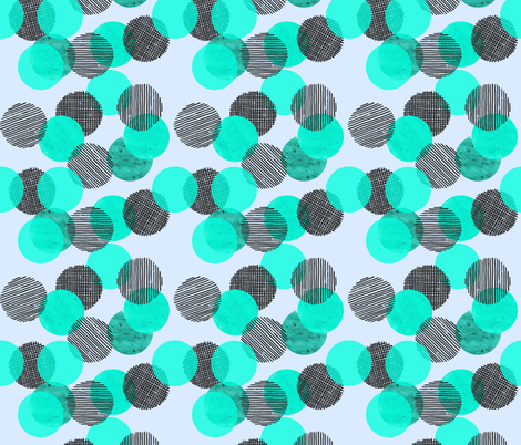 Blue Dots fabric by thewellingtonboot on Spoonflower - custom fabric