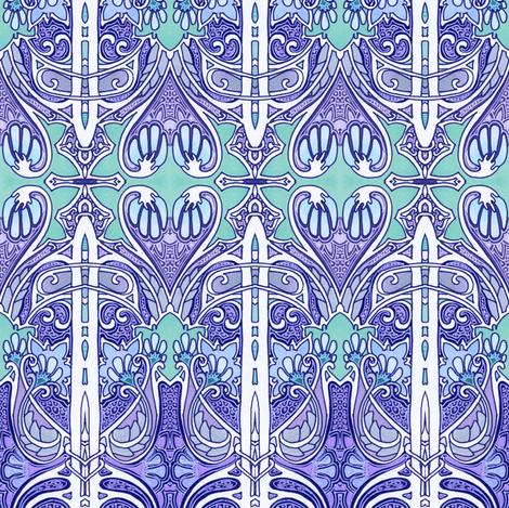 My Heart Drips Blue fabric by edsel2084 on Spoonflower - custom fabric