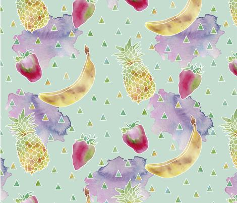 watercolor_fruits3_sf fabric by marielatresoldi on Spoonflower - custom fabric