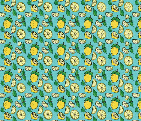 Lemonade fabric by jessietyree on Spoonflower - custom fabric