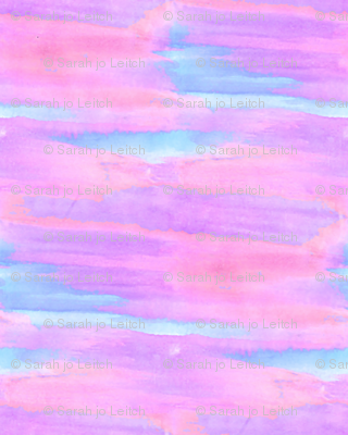Abstract Watercolor Cotton Candy