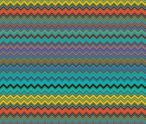 CHEVRON 1 LAMP PSYCHEDELIC FEVER EMERALD TEAL fabric by paysmage on Spoonflower - custom fabric