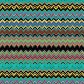 CHEVRON 3 LAVA LAMP PSYCHEDELIC FEVER EMERALD TEAL