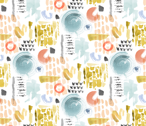 Abstract Watercolour (pastels) fabric by cerigwen on Spoonflower - custom fabric