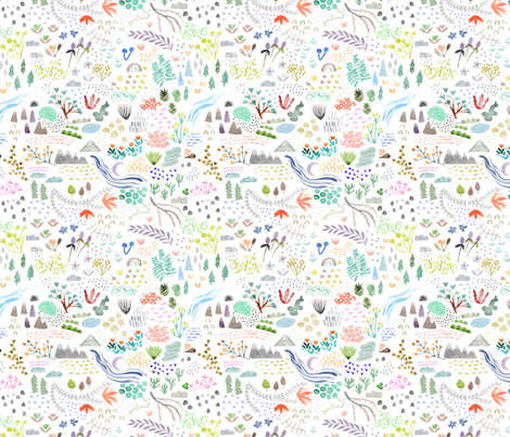 Watercolor Field - small fabric by katievernon on Spoonflower - custom fabric