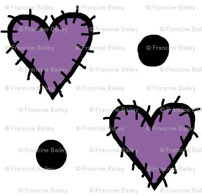 Patch Heart Mini Print - Perfect Purple