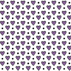 Patch Heart Mini Print - Perfect Purple