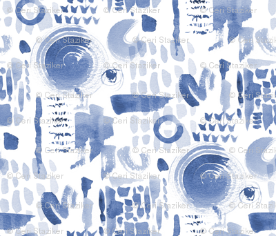 Abstract Watercolour (blue)