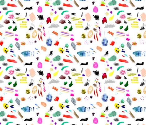 Artist's Palette  fabric by katievernon on Spoonflower - custom fabric