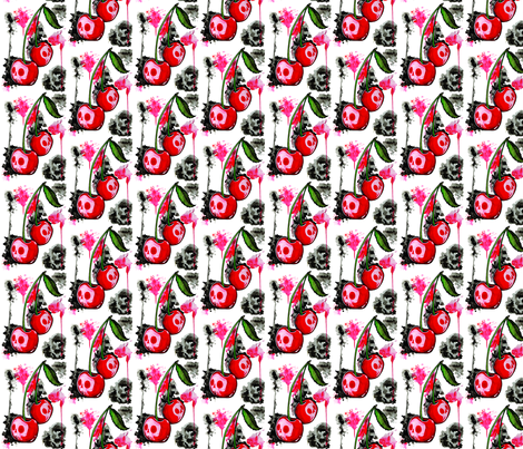 Poisoned Cherries fabric by horrorvacui on Spoonflower - custom fabric