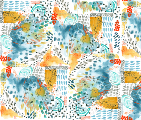 Abstract Colour Clouds fabric by taraput on Spoonflower - custom fabric