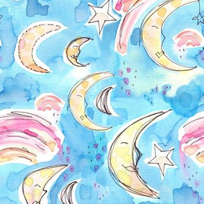 night sky abstract