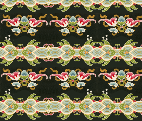 chinoise 3 fabric by hypersphere on Spoonflower - custom fabric