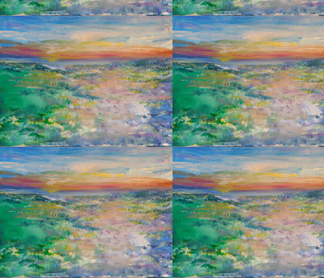 beach_sunrise_impression fabric by susanabellart on Spoonflower - custom fabric