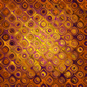 TRESOR GOLD AND RUST SQUARE ROUND DOTS DIAGONAL LARGE