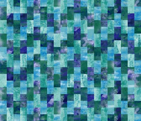 Ocean Waves Watercolor fabric by wickedrefined on Spoonflower - custom fabric