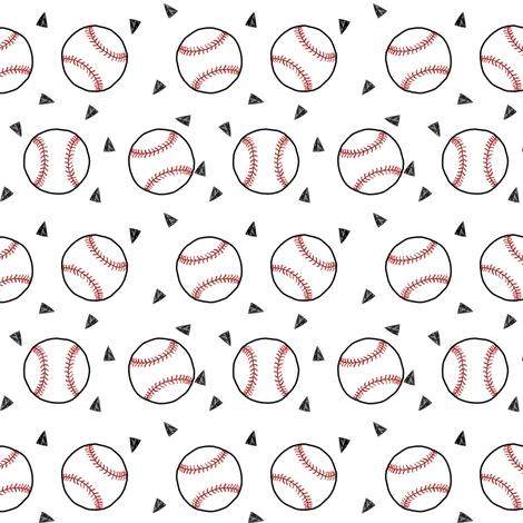 baseball fabric // american pastime sports baseball design andrea lauren fabric by andrea_lauren on Spoonflower - custom fabric