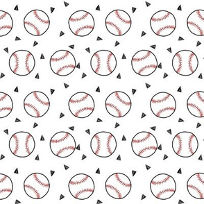 baseball fabric // american pastime sports baseball design andrea lauren