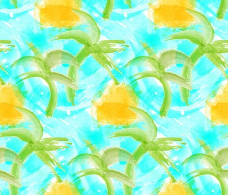 Tropical Abstract fabric by mia_valdez on Spoonflower - custom fabric